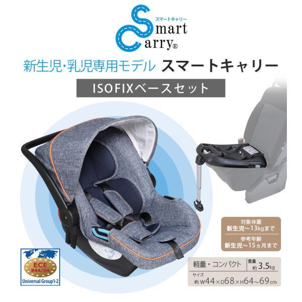 チャイルドシート 新生児から使えるスマートキャリー  ISOFIXベースセット 日本育児(送料無料)|ebaby-select|02