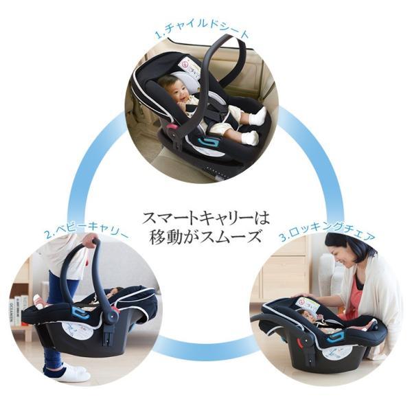 チャイルドシート 新生児から使えるスマートキャリー  ISOFIXベースセット 日本育児(送料無料)|ebaby-select|05