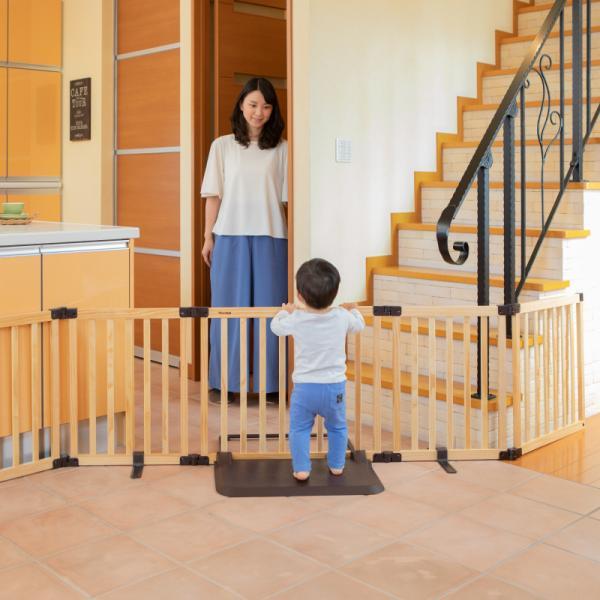 おくだけとおせんぼ スマートワイドWoody 日本育児 置くだけ パーテーション(送料無料)|ebaby-select|05
