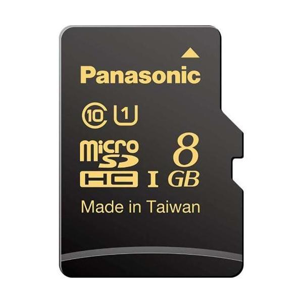 パナソニック RP-SMHA08GJK 高耐久microSDHCメモリーカード Class10 (UHS-I) 8GBの画像