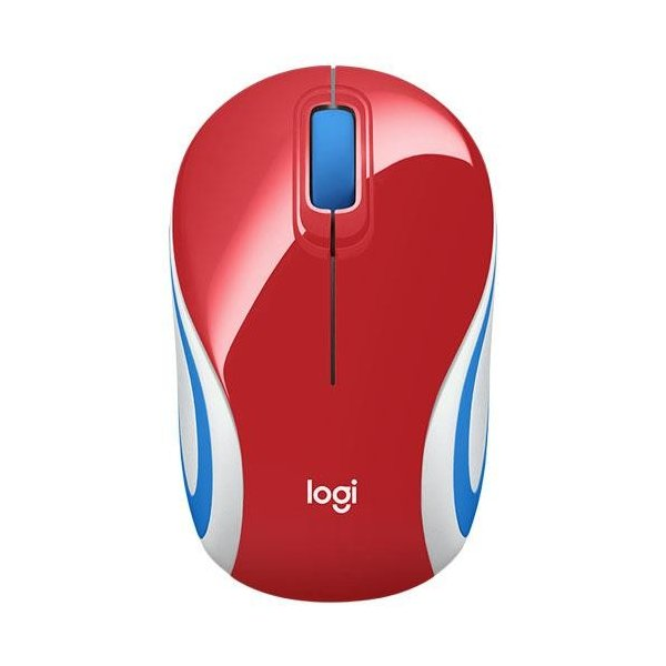 LOGICOOL ロジクール ワイヤレスミニマウス M187rRD M187rRD 明るい赤の画像