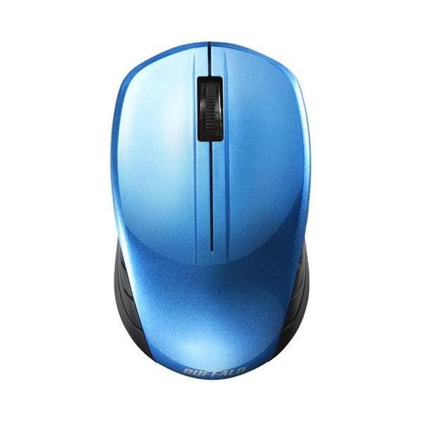 バッファロー 無線 BlueLED マウス BSMBW100BL ブルーの画像