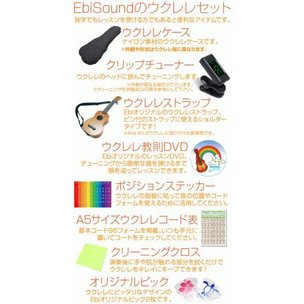 ウクレ レ初心者セット コンサート アリア ACU-1K アカシアボディ SJ|ebisound|06