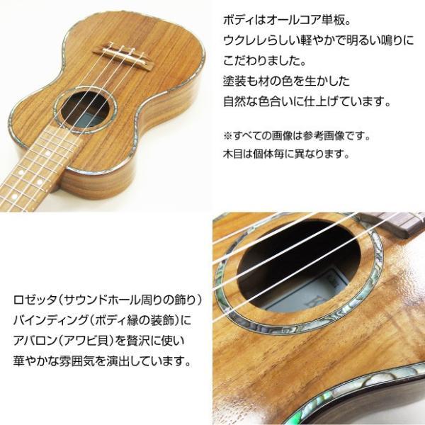 キワヤ ウクレレ k Ukulele K-301 コンサート コア単板 ギアペグ搭載 KIWAYA kウクレレ チューナー付属|ebisound|02