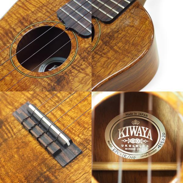 キワヤ ウクレレ コンサート KPC-1K HG #093019 ハワイアン・カーリーコアトップ オール単板 国産モデル|ebisound|11