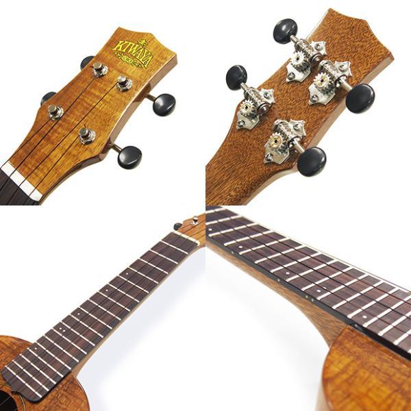 キワヤ ウクレレ コンサート KPC-1K HG #093019 ハワイアン・カーリーコアトップ オール単板 国産モデル|ebisound|10