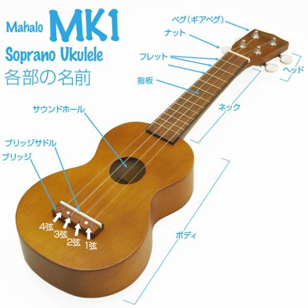 ウクレレ 初心者セット ソプラノ マハロ MK1 MAHALO KAHIKO Series SJ|ebisound|03