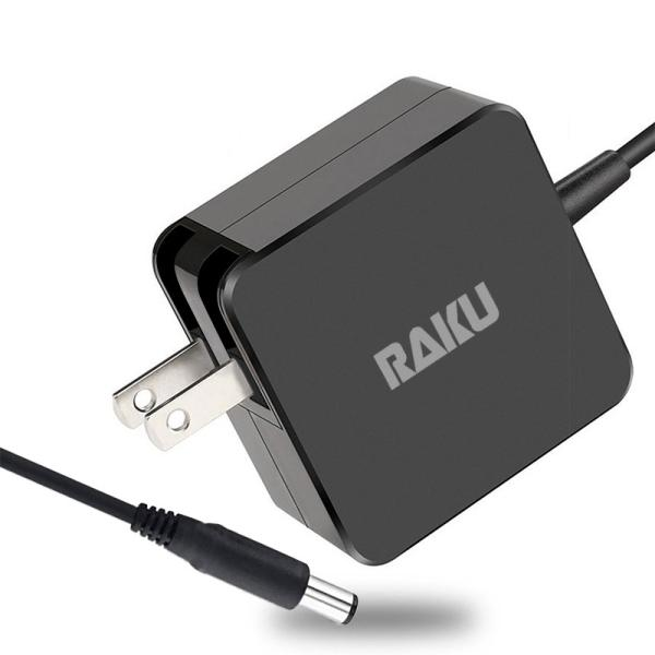 【RAKU】 急速ACアダプタ 65W PC-パソコン充電器 高速充電 8重智能保護 酸化防止金属プラグ 1.8m充電ケーブル 防塵ケース 厚手マジックテープ