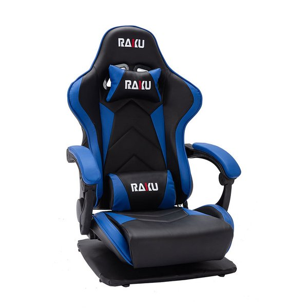 RAKU ゲーミング座椅子 ゲーミングチェア 座椅子 振動機能 ゲーム用チェア 180°リクライニング  360°回転座面 腰痛対策 ランバーサポート ひじ掛け付き ebisu-japan 11