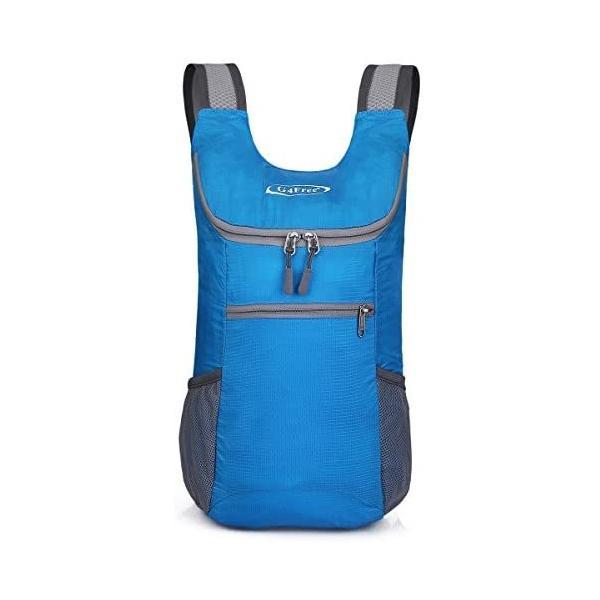 G4Free折畳みバッグ11Lポケッタブルリュック軽量スポーツバッグコンパクトメンズレディースジム子供(スカイブルーS)