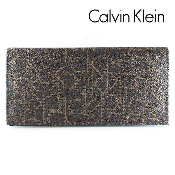 カルバンクライン CK 長財布 メンズ 財布 CalvinKlein モノグラム ブラウン 79467 CHO|ebsya