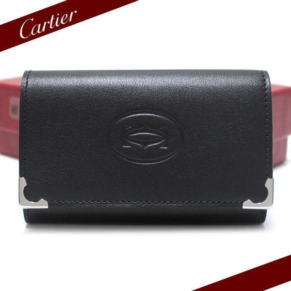 カルティエ Cartier 6連キーケース  カボション ブラック L3000579 ebsya