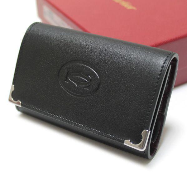カルティエ Cartier 6連キーケース  カボション ブラック L3000579 ebsya 02