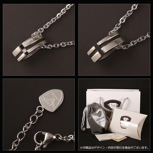 ライオンハート ネックレス メンズ クロス ライン ブラック 04N125SM 送料無料 LION HEART|ebsya|03