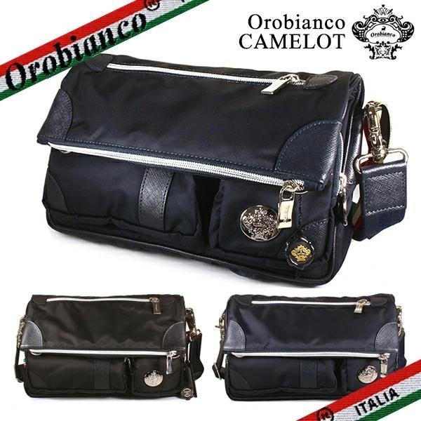 オロビアンコ ショルダーバッグ メンズ キャメロット Orobianco CAMELOT ナイロン ブラック ブルー ロッソ|ebsya