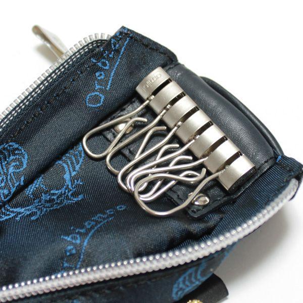 オロビアンコ ポルターレ  6連キーケース  コインポケット付き Orobianco PORTALE 11-N ナイロン/レザー ブルー|ebsya|03