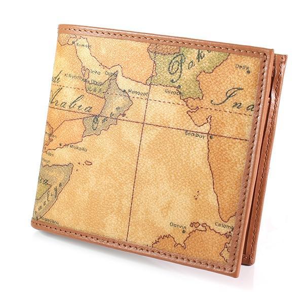プリマクラッセ PRIMA CLASSE 財布 折り財布 キャメル メンズ CW103 6000 0010 地図柄 紳士用|ebsya|02