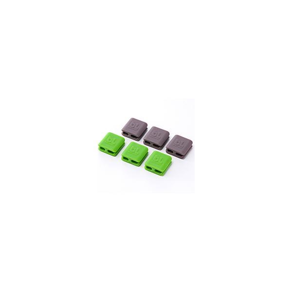 コードマネージャー Bluelounge ブルーラウンジ CableClips Small Pack Dark Grey/Green BLD-CCS-DGGR ネコポス可|ec-kitcut