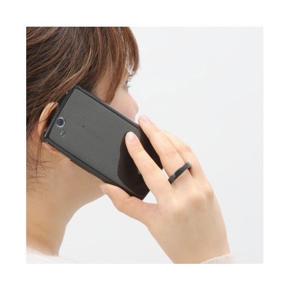 Deff ディーフ Carbon Ring Finger Strap ディープパープル DFR-CA01PU ネコポス送料無料 ec-kitcut 02