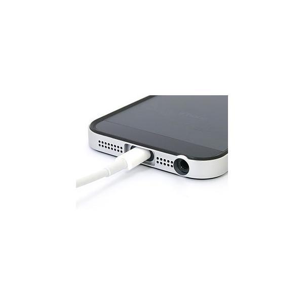 PowerSupport パワーサポート フラットバンパーセット for iPhone SE / 5s / 5 シルバー&ブラック PJK-45 ネコポス送料無料|ec-kitcut|03