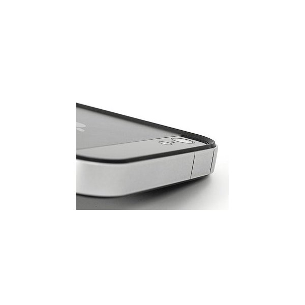 PowerSupport パワーサポート フラットバンパーセット for iPhone SE / 5s / 5 シルバー&ブラック PJK-45 ネコポス送料無料|ec-kitcut|05