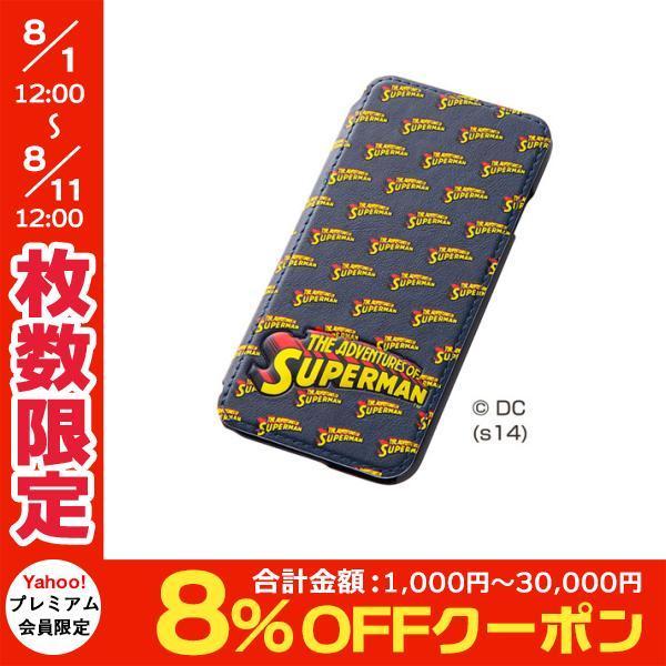 iPhone6s ケース Ray Out レイアウト iPhone 6 / 6s スーパーマン・ポップアップ・フラップレザー / スーパーマン RT-WP7C/SM ネコポス送料無料|ec-kitcut