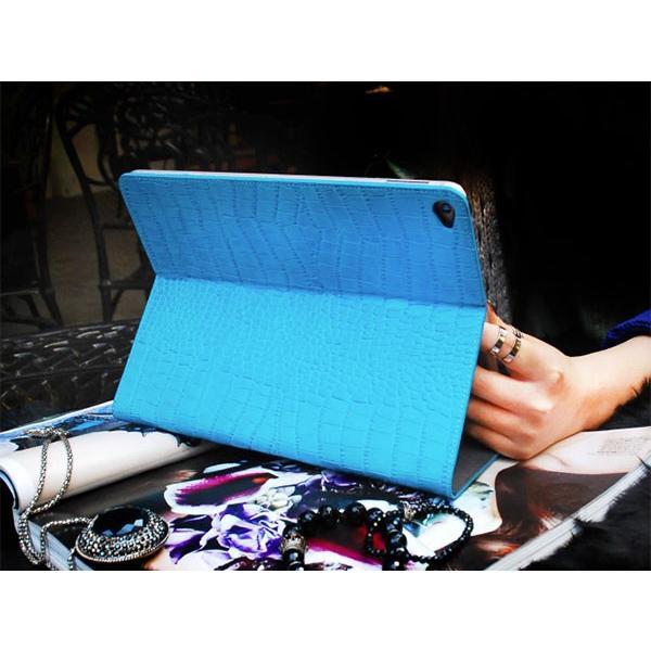iPad Air2 ケース GAZE ゲイズ iPad Air 2 Vivid Croco Diary コーラルブルー GZ5058iPA2 ネコポス不可|ec-kitcut|02