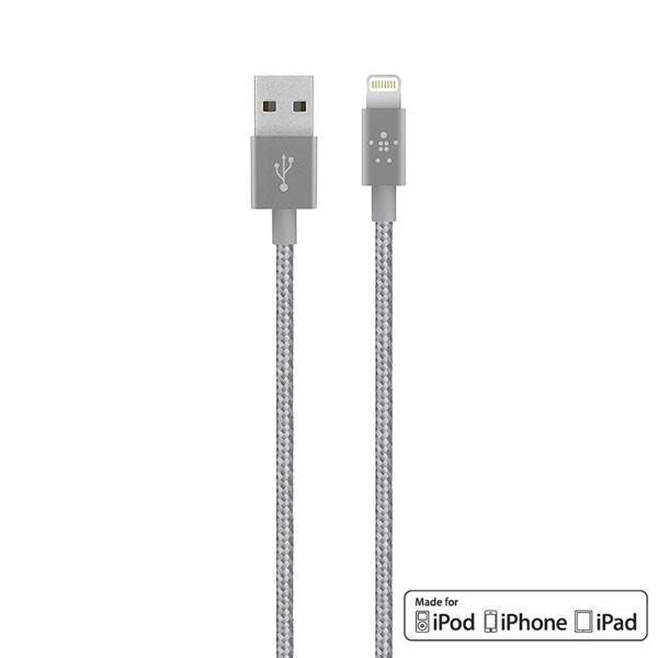 Lightning USBケーブル BELKIN ベルキン プレミアム Lightningケーブル 1.2m グレイ F8J144bt04-GRY ネコポス可|ec-kitcut