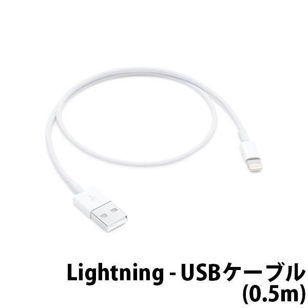 APPLE Lightning - USBケーブル(0.5m) ME291AM/A(Lightning - USBケーブル(0.5 m)) ホワイトの画像