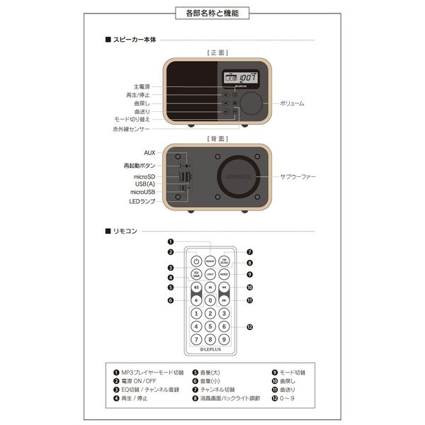 ワイヤレススピーカー LEPLUS Classica Bluetooth ワイヤレス スピーカー ルプラス ネコポス不可 ec-kitcut 05