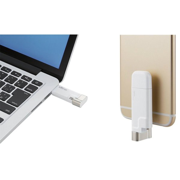 フラッシュメモリー iPhone iPhone / iPad フラッシュメモリー Logitec ロジテック Lightningコネクタ搭載 USB2.0メモリ 32GB LMF-LGU232GWH ネコポス不可|ec-kitcut|02