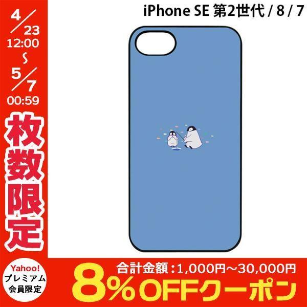 iPhone8 / iPhone7 スマホケース Dparks ディーパークス iPhone 8 / 7 ブラックケース ミニ動物 ペンギン DS8311i7 ネコポス送料無料|ec-kitcut