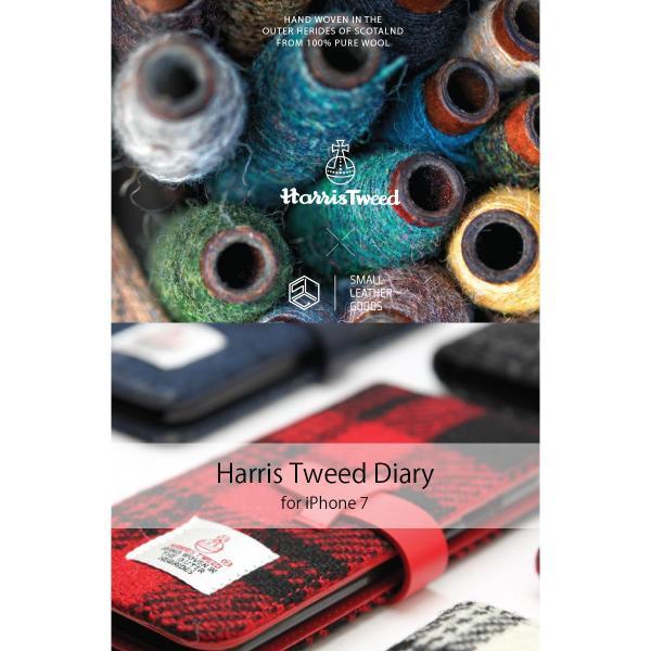iPhone8 / iPhone7 スマホケース SLG Design エスエルジー デザイン iPhone 8 / 7 Harris Tweed Diary ブラック SD8117i7 ネコポス不可|ec-kitcut|02