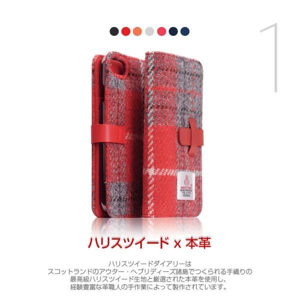 iPhone8 / iPhone7 スマホケース SLG Design エスエルジー デザイン iPhone 8 / 7 Harris Tweed Diary ブラック SD8117i7 ネコポス不可|ec-kitcut|03