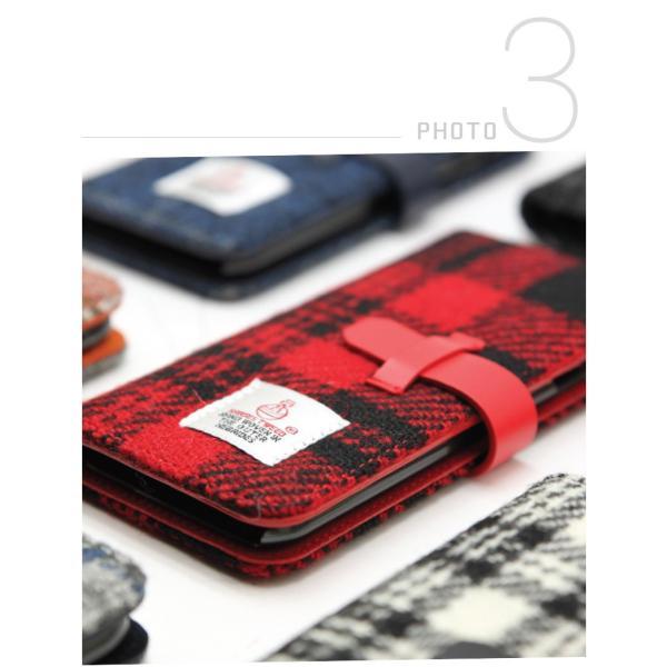 iPhone8 / iPhone7 スマホケース SLG Design エスエルジー デザイン iPhone 8 / 7 Harris Tweed Diary ブラック SD8117i7 ネコポス不可|ec-kitcut|07