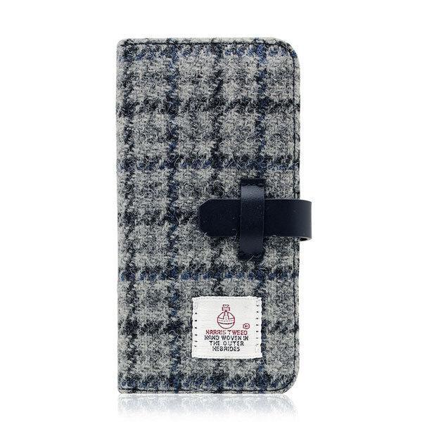 iPhone8 / iPhone7 スマホケース SLG Design エスエルジー デザイン iPhone 8 / 7 Harris Tweed Diary グレーxネイビー SD8120i7 ネコポス不可|ec-kitcut