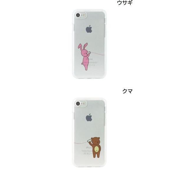 iPhone8 / iPhone7 スマホケース Dparks iPhone 8 / 7 ソフトクリアケース 糸電話 ディーパークス ネコポス可|ec-kitcut|02