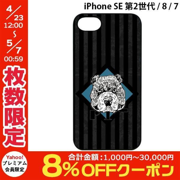 iPhone8 / iPhone7 スマホケース Dparks ディーパークス iPhone 8 / 7 ブラックケース 檻の中のブルドッグ DS8769i7 ネコポス不可 ec-kitcut
