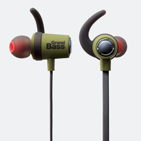 ワイヤレス イヤホン エレコム ELECOM Bluetoothイヤホン GrandBASS HPC40 グリーン LBT-HPC40MPGN ネコポス不可 ec-kitcut