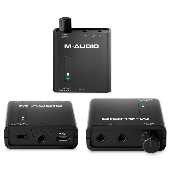 M-AUDIO Bass Traveler ポータブルヘッドホンアンプ Portable Headphone Amplifier with Dual Outputs and 2-Level Boost ネコポス不可|ec-kitcut|04