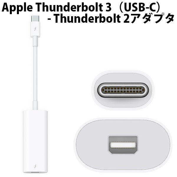 APPLE Thunderbolt3(USB-C)-TB2アダプタ MMEL2AM/Aの画像