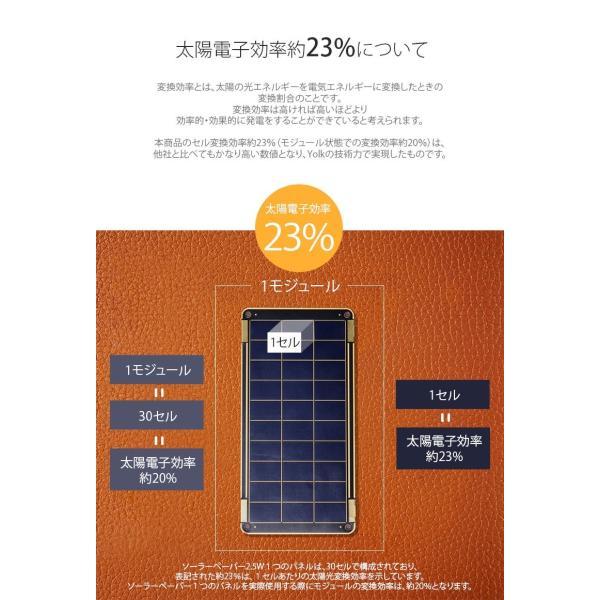 iデバイス用バッテリー YOLK ヨーク ソーラー充電器 Solar Paper 7.5W YO8999 ネコポス不可 ec-kitcut 11