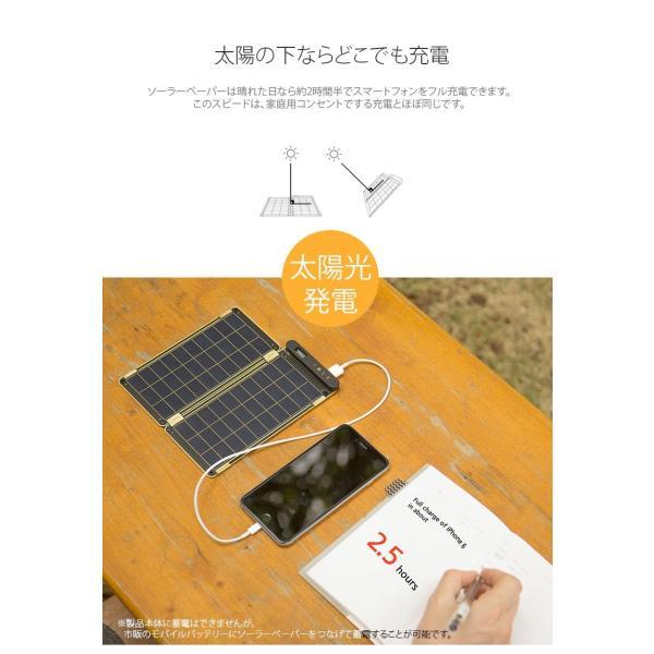 iデバイス用バッテリー YOLK ヨーク ソーラー充電器 Solar Paper 7.5W YO8999 ネコポス不可 ec-kitcut 04