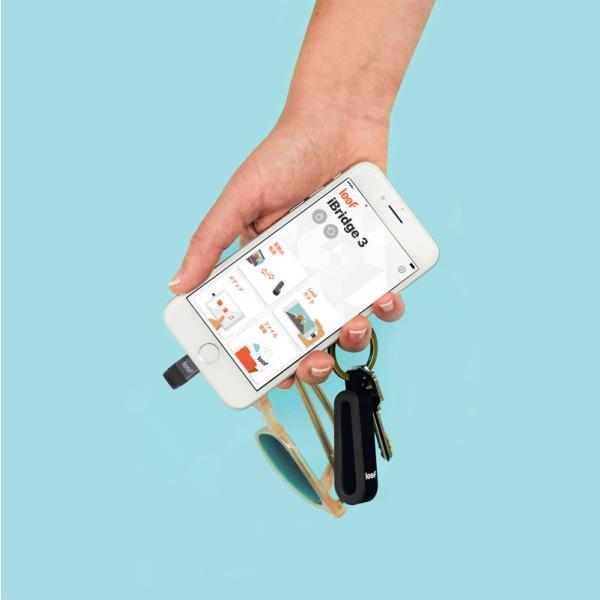 iPhone USBメモリ Leef リーフ iBridge3 アイブリッジ3 64GB USB - Lightningフラッシュメモリ ブラック LIB300KK064E1 ネコポス不可|ec-kitcut|02