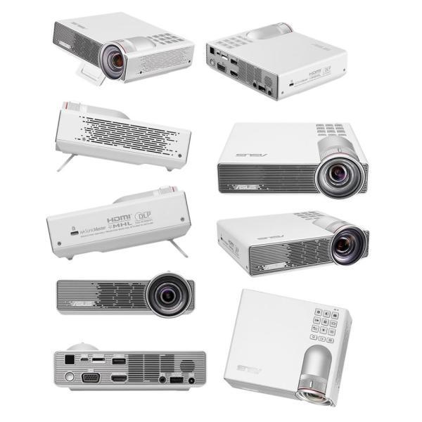 プロジェクター ASUS エイスース テック LEDポータブルプロジェクター DLP バッテリー駆動可能 1280x800 ホワイト P3B ネコポス不可|ec-kitcut|10