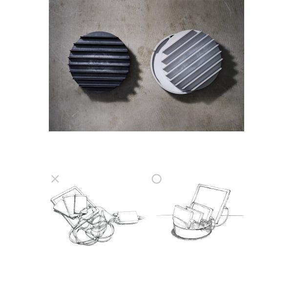 収納・整頓 NuAns COLONY マルチ充電トレイ テクスチャー ニュアンス ネコポス不可 ec-kitcut 03
