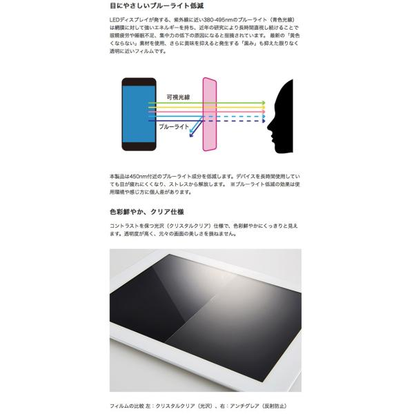 iPhone8 / iPhone7 /iPhone6s / iPhone6 フィルム Simplism iPhone 8 / 7 / 6s / 6 衝撃吸収&ブルーライト低減 液晶保護フィルム 光沢 ネコポス可|ec-kitcut|03