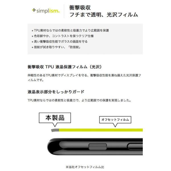 iPhone8 / iPhone7 /iPhone6s / iPhone6 フィルム Simplism シンプリズム iPhone 8 / 7 / 6s / 6 曲面対応 衝撃吸収 TPU 液晶保護フィルム 光沢 ネコポス可|ec-kitcut|02