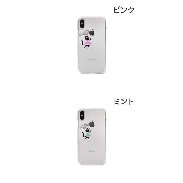 iPhoneXS / iPhoneX ケース Dparks iPhone XS / X ソフトクリアケース 虫取りネコ ディーパークス ネコポス可 ec-kitcut 02