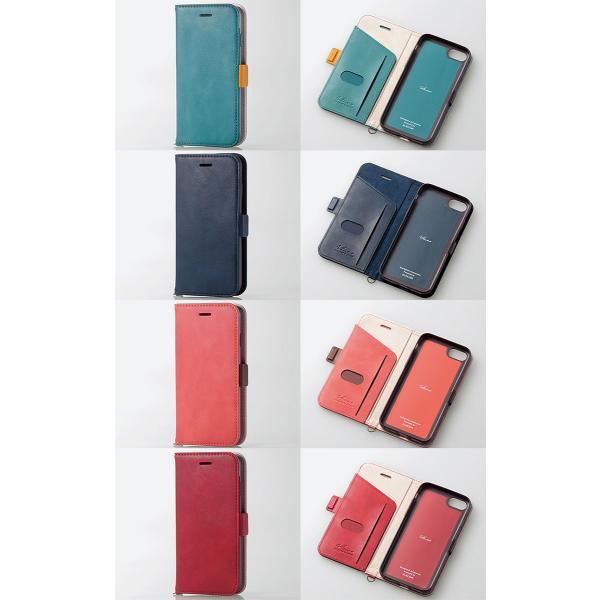 iPhone8 ケース スマホケース エレコム ELECOM iPhone 8 / 7 Vluno ソフトレザーカバー 磁石付 ブラック PM-A17MPLFYBK ネコポス可|ec-kitcut|08